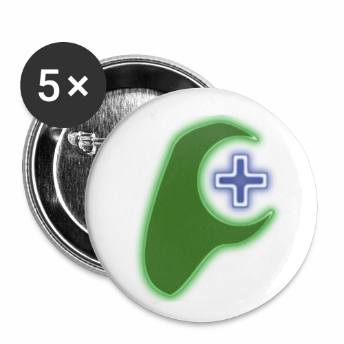 RG green tag - Buttons small 1''/25 mm (5-pack)