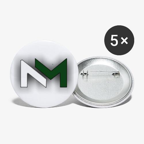 mrNewman logga - Små knappar 25 mm (5-pack)