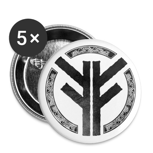 Forefather symbol black - Buttons small 1''/25 mm (5-pack)