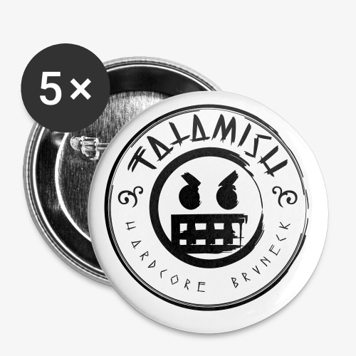 Fatamish Logo D - Buttons klein 25 mm (5er Pack)