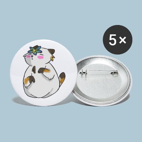 Gato chill 2 - Paquete de 5 chapas pequeñas (25 mm)