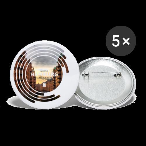 Hamburg Geometrische Form Kreis Spectrum - Buttons klein 25 mm (5er Pack)