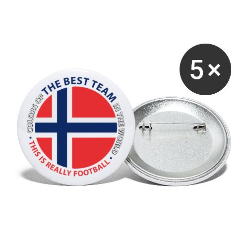Norway Best Football Team - Buttons small 1''/25 mm (5-pack)