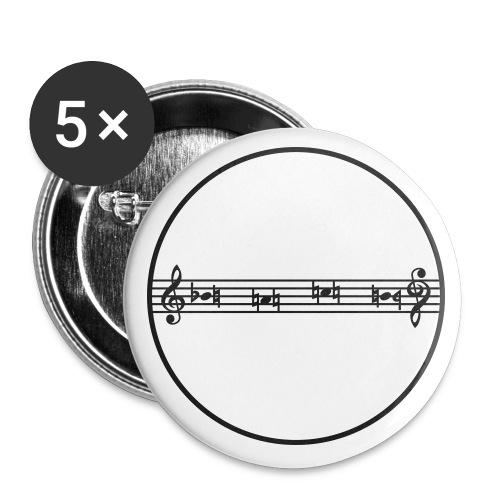 B A C H - Buttons klein 25 mm (5er Pack)