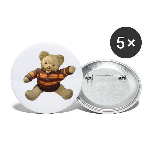 Teddybär - orange braun - Retro Vintage - Bär - Buttons klein 25 mm (5er Pack)