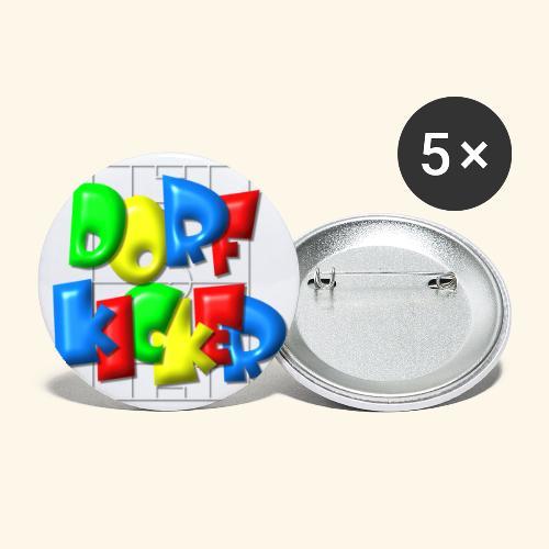 Dorfkicker im Fußballfeld - Balloon-Style - Buttons klein 25 mm (5er Pack)
