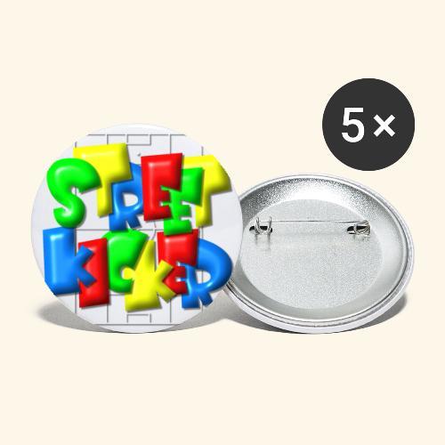 Streek Kicker im Fußballfeld - Balloon-Style - Buttons klein 25 mm (5er Pack)
