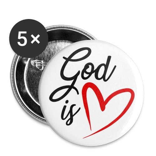 God is love 2N - Confezione da 5 spille piccole (25 mm)