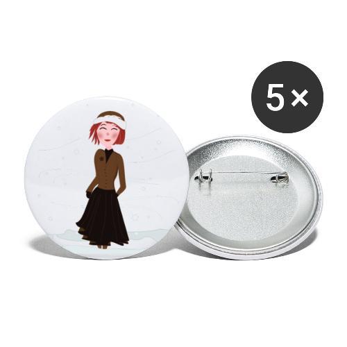 Heure d'hiver - Lot de 5 petits badges (25 mm)