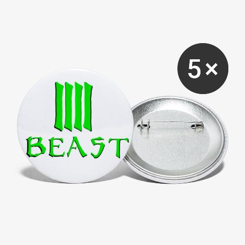 Beast Green - Buttons small 1''/25 mm (5-pack)