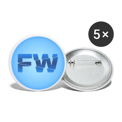 Square Logo - Buttons small 1''/25 mm (5-pack)