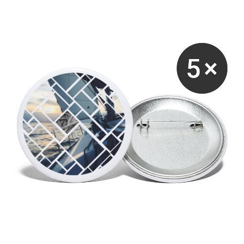 Ocean Sailing Graphic Design - Buttons klein 25 mm (5er Pack)