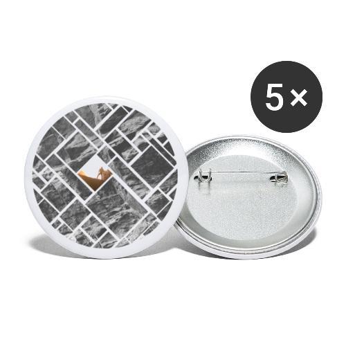 Felsklettern Bouldern Grafisches Design - Buttons klein 25 mm (5er Pack)