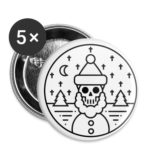 DEAD SANTA - Buttons klein 25 mm (5er Pack)
