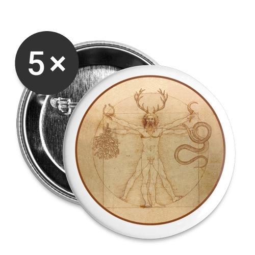 Cernunnos Vitruvio - Confezione da 5 spille piccole (25 mm)