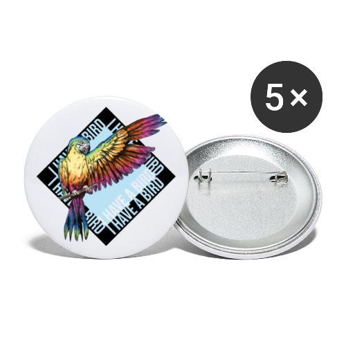 I have a bird - Papagei - Buttons klein 25 mm (5er Pack)