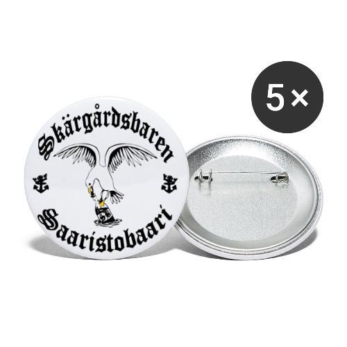 Black logo - Rintamerkit pienet 25 mm (5kpl pakkauksessa)