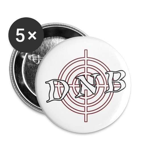 'DNB' Pins - Buttons small 1''/25 mm (5-pack)