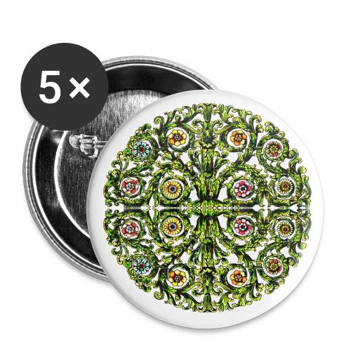 Ornament 127 - Buttons klein 25 mm (5er Pack)