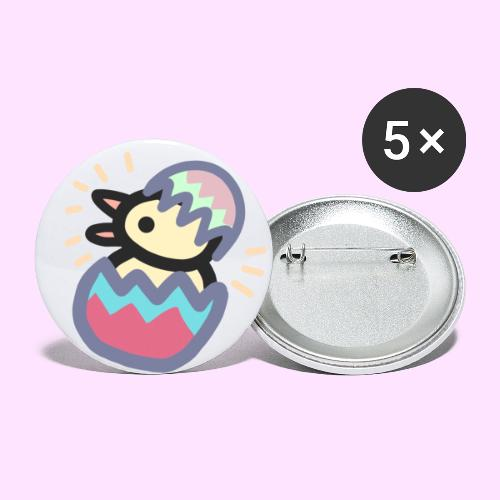 Easter Pinkguin (Yellowguin?) - Buttons/Badges lille, 25 mm (5-pack)