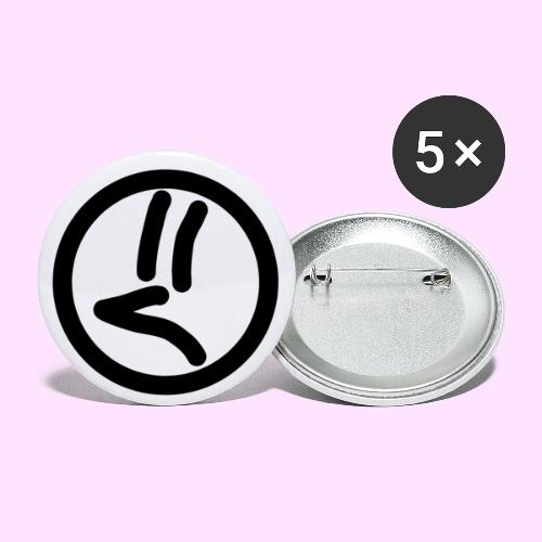Guy - Buttons/Badges lille, 25 mm (5-pack)