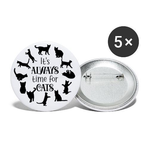Its always time for cats - Små knappar 25 mm (5-pack)