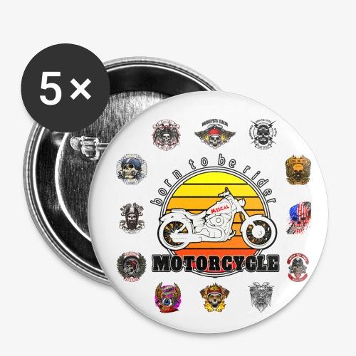 Born to be Rider - Motorcycle - Collection - Confezione da 5 spille piccole (25 mm)