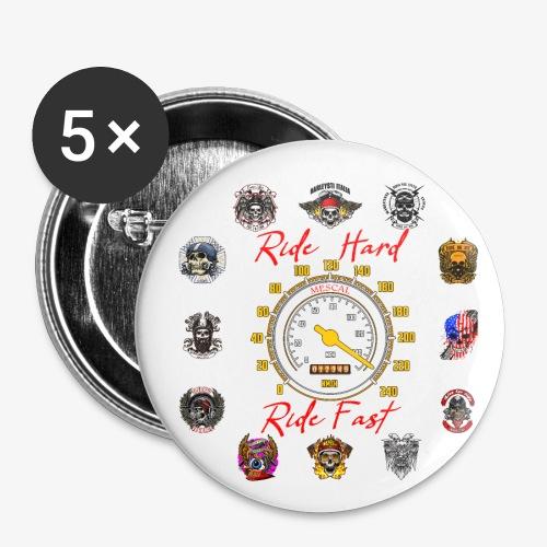 Ride Hard Ride Fast - Collezione 3 - Confezione da 5 spille piccole (25 mm)