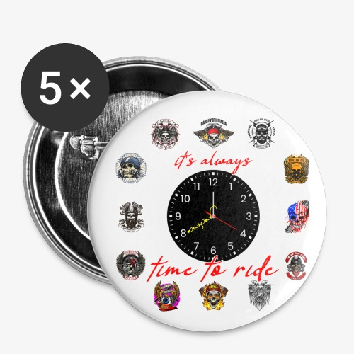 It's always time to ride - Collection - Confezione da 5 spille piccole (25 mm)