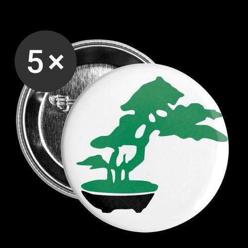bonsai_baum_2 - Buttons klein 25 mm (5er Pack)