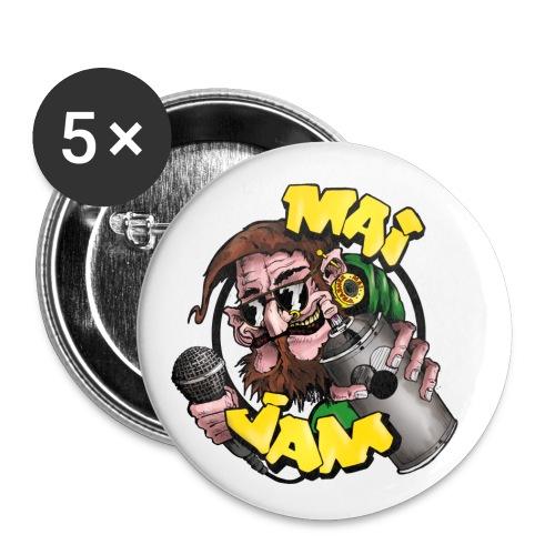 MaiJam Logo bunt png - Buttons klein 25 mm (5er Pack)