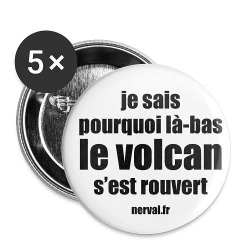 11_nerval_volcan - Lot de 5 petits badges (25 mm)