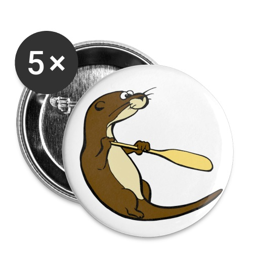 Classic Song of the Paddle otter logo - Buttons small 1''/25 mm (5-pack)