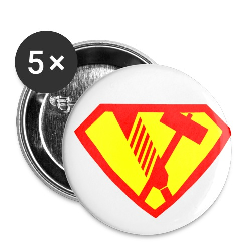 super hammer feile - Buttons klein 25 mm (5er Pack)