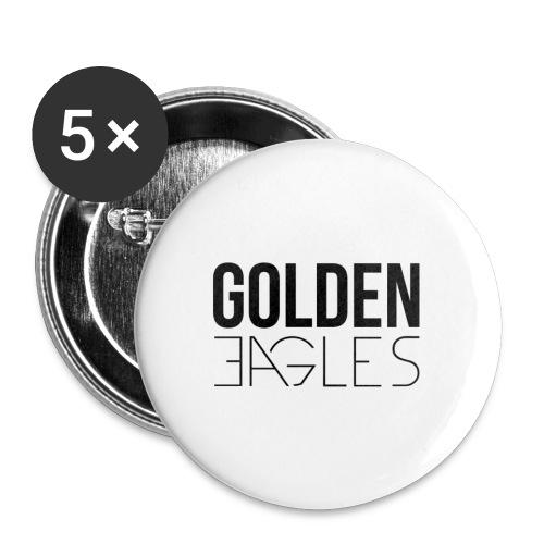 Logo Golden Eagles #BLACK - Lot de 5 petits badges (25 mm)