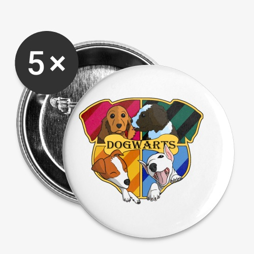 Dogwarts Bandana - Buttons small 1''/25 mm (5-pack)
