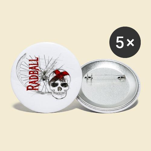 Radball   Cycle Ball Skull - Buttons klein 25 mm (5er Pack)