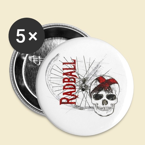 Radball | Cycle Ball Skull - Buttons klein 25 mm