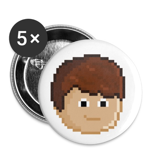 kubapixelbig png - Buttons small 1''/25 mm (5-pack)