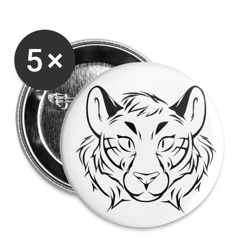 Tigris Picture Logo Black - Buttons small 1''/25 mm (5-pack)