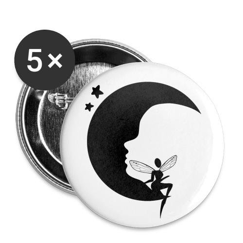 Fée de la Lune - Lot de 5 petits badges (25 mm)