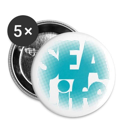 Sealife surfing tees, clothes and gifts FP24R01A - Rintamerkit pienet 25 mm (5kpl pakkauksessa)