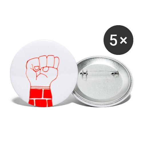 la lutte continue - Små knappar 25 mm (5-pack)