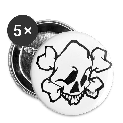 √ skull white ver01 fresh 86 - Buttons/Badges lille, 25 mm (5-pack)