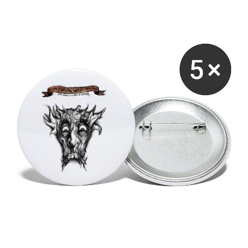 T-shirt del Dio Diaforo Tossidoille - Confezione da 5 spille piccole (25 mm)