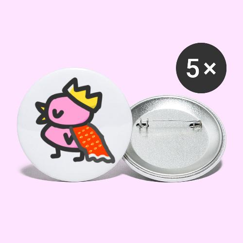 Royal Pinkguin - Buttons/Badges lille, 25 mm (5-pack)