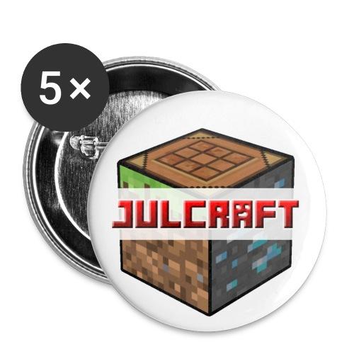 Julcraft Logo - Buttons klein 25 mm (5er Pack)
