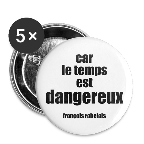 05_dangereux - Lot de 5 petits badges (25 mm)