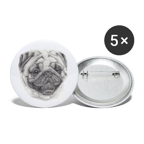Pug mops 2 - Buttons/Badges lille, 25 mm (5-pack)