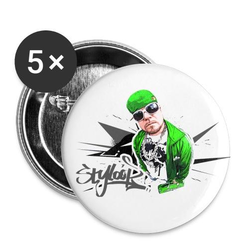 GREEN STYLOOP 2 - Buttons klein 25 mm (5er Pack)